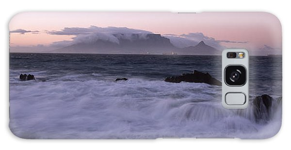 Breaking Dawn Galaxy Case - Rocks In The Sea With Table Mountain by Panoramic Images