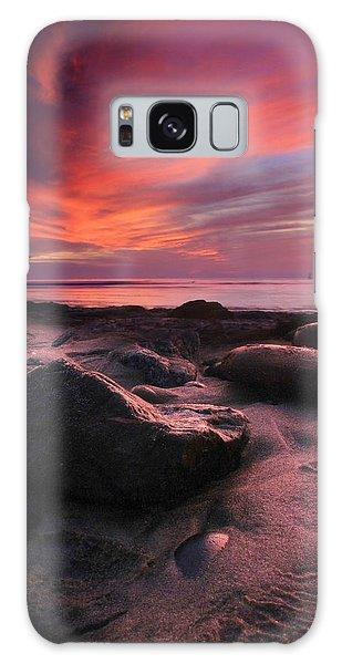 Rocky Sunset Galaxy Case