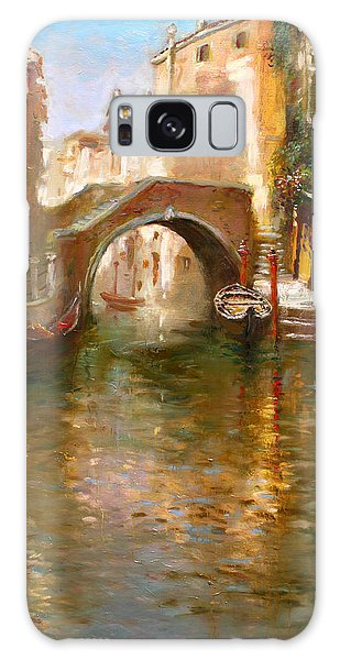 Arched Galaxy Case - Romance In Venice  by Ylli Haruni