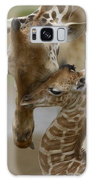 Galaxy Case featuring the photograph Rothschild Giraffe And Calf by San Diego Zoo