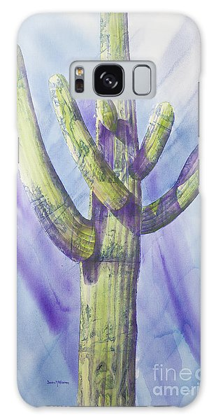 Saguaro In Winter Galaxy Case