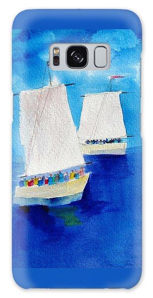 2 Sailboats Galaxy Case by Carlin Blahnik
