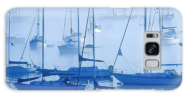 Sailboats In The Fog - Maine Galaxy Case