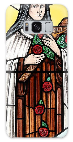 Saint Therese Of Lisieux Galaxy Case by Gilroy Stained Glass