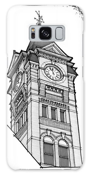 Samford Hall Clock Tower Galaxy Case by Calvin Durham