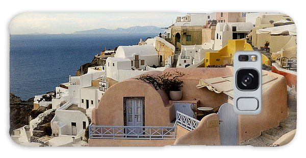 Santorini - Greece Galaxy Case by Haleh Mahbod
