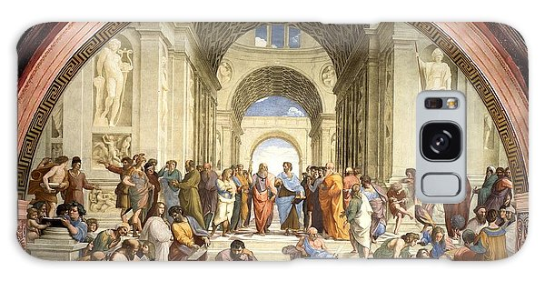 School Of Athens Galaxy Case by Raphael