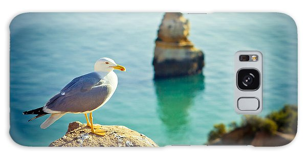 Seagull On The Rock Galaxy Case