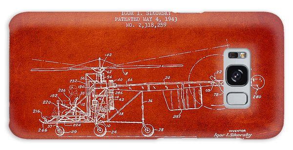 Sikorsky Helicopter Patent Drawing From 1943 Galaxy Case