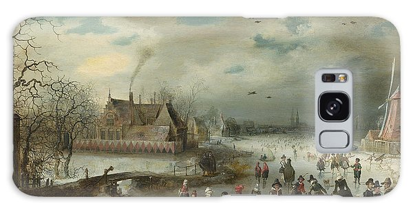 Skating On The Frozen Amstel River Galaxy Case