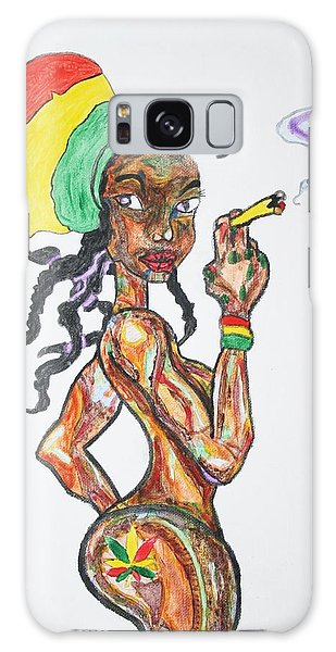 Smoking Rasta Girl Galaxy Case