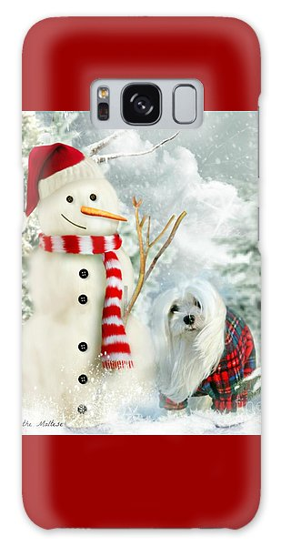 Snowdrop And The Snowman Galaxy Case by Morag Bates
