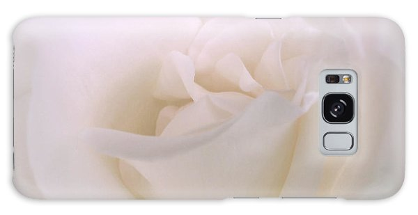 Softness Of A White Rose Flower Galaxy Case