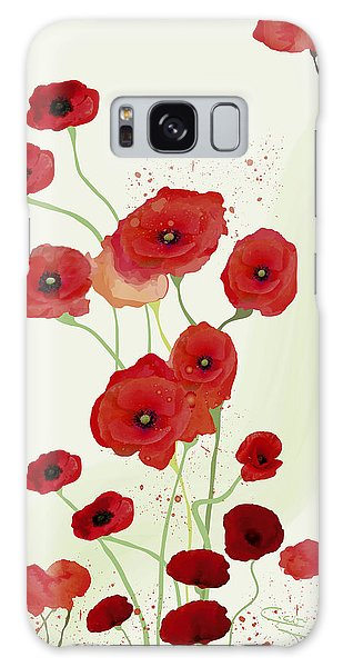 Sonata Of Poppies Galaxy Case