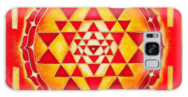 Sri Yantra For Meditation Painted Galaxy Case