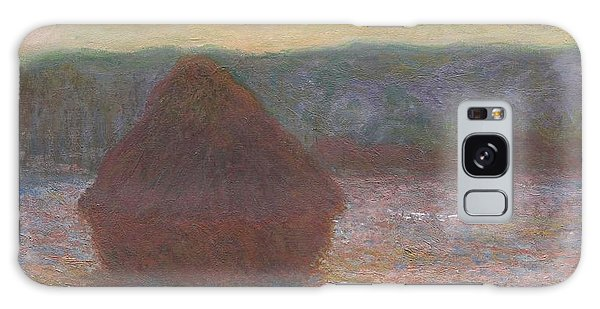 Art Institute Galaxy Case - Stack Of Wheat by Claude Monet