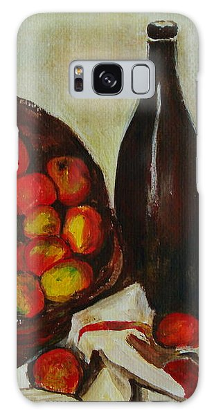 Still Life With Apples After Cezanne - Painting Galaxy Case by Veronica Rickard