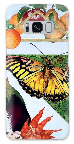 Still Life With Moth #1 Galaxy Case by Thomas Gronowski