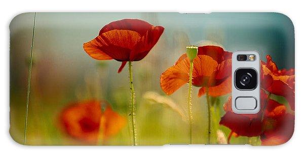 Red Galaxy Case - Summer Poppy by Nailia Schwarz