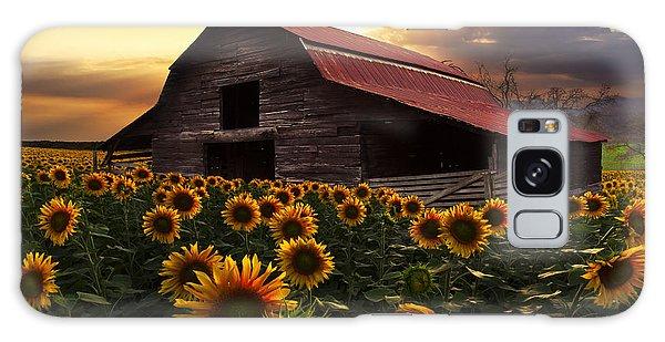 Beautiful Sunrise Galaxy Case - Sunflower Farm by Debra and Dave Vanderlaan