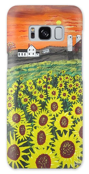 Sunflower Valley Farm Galaxy Case