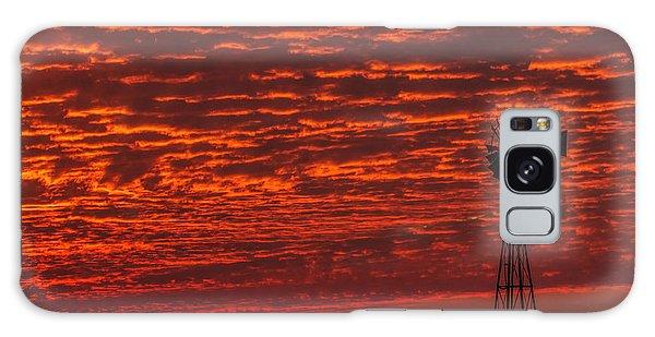 Sunset And Windmill Galaxy Case