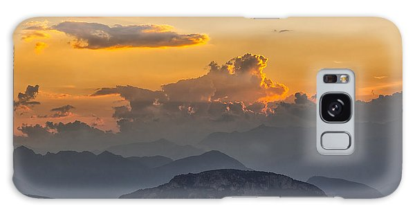 Sunset Over The Mountains. Italy Galaxy Case