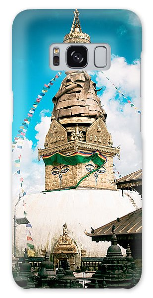 Swayambhunath Stupa In Nepal Galaxy Case