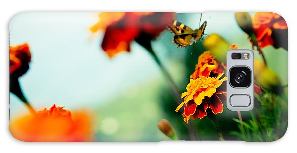 Tagetes And Buterfly Fly Away  Galaxy Case