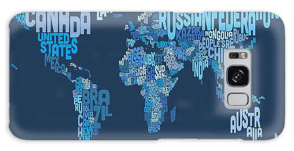 Text Map Galaxy Case - Text Map Of The World Map by Michael Tompsett