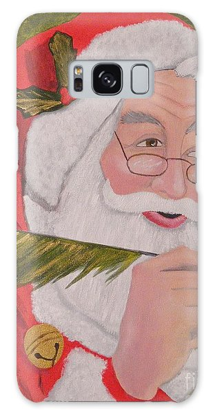 The Jolly Elf Saint Nick Checking It Twice Galaxy Case