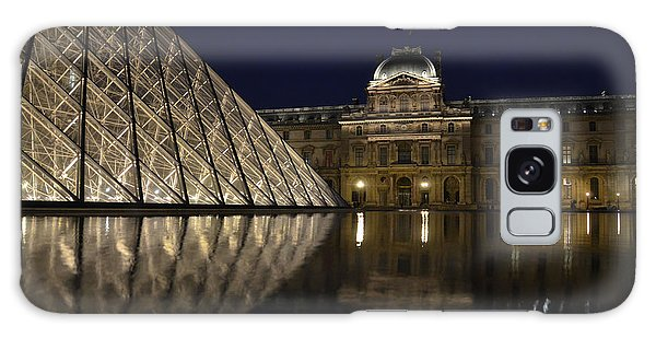 The Louvre Palace And The Pyramid At Night Galaxy Case