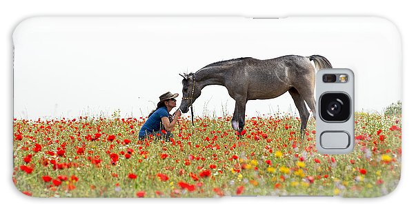 Three At The Poppies' Field... 4 Galaxy Case