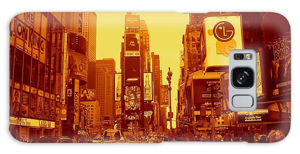 42nd Street And Times Square Manhattan Galaxy Case