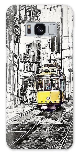 Lisbon Tram 28 Galaxy Case