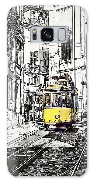 Lisbon Tram 28 Galaxy Case by Marion McCristall