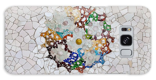 Trencadis Mosaic In Park Guell In Barcelona Galaxy Case