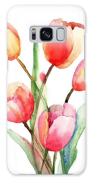 Tulips Flowers Galaxy Case