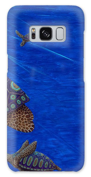 Turtle Painting Bomber Triptych 3 Galaxy Case