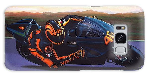 Sportsman Galaxy Case - Valentino Rossi On Ducati by Paul Meijering