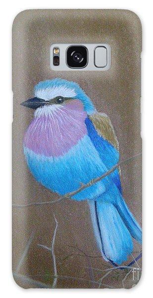 Violet-breasted Roller Bird Galaxy Case