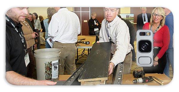 Volunteers Making Bat Houses Galaxy Case by Jim West