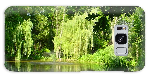Weeping Willow Pond Galaxy Case by Lyric Lucas