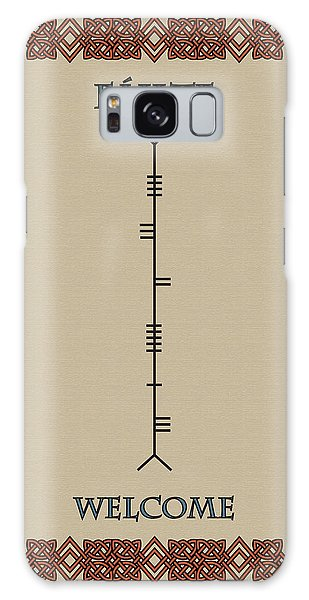Welcome Written In Ogham Galaxy Case
