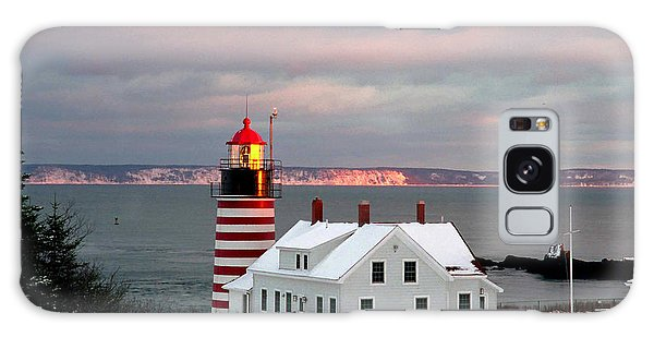 West Quoddy Head Lighthouse Galaxy Case by Alana Ranney