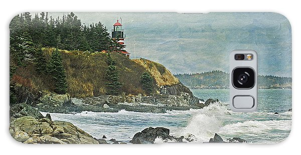 West Quoddy Head Lighthouse Galaxy Case