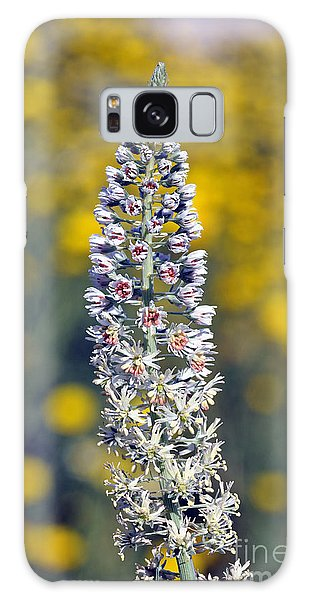 Wild Mignonette Flower Galaxy Case by George Atsametakis