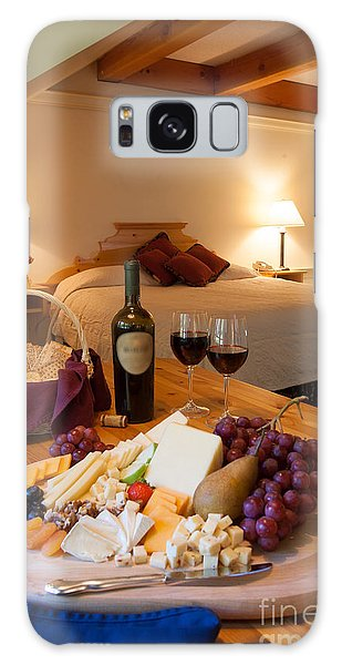 Wine And Cheese In A Luxurious Hotel Room. Galaxy Case