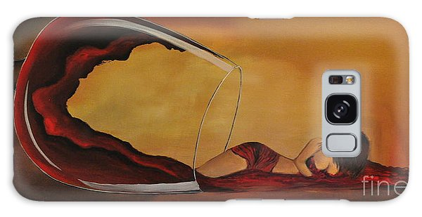 Wine-spilled Woman Galaxy Case