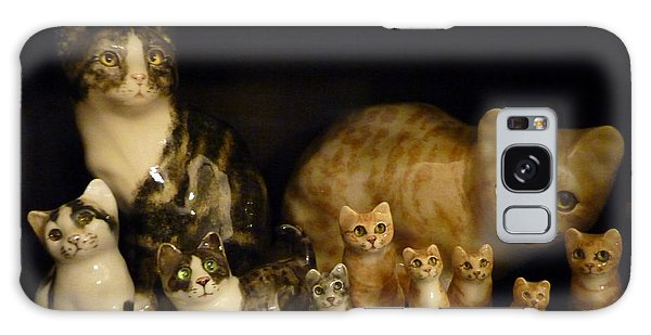 Winstanley Cats Galaxy Case by Jeanette Oberholtzer